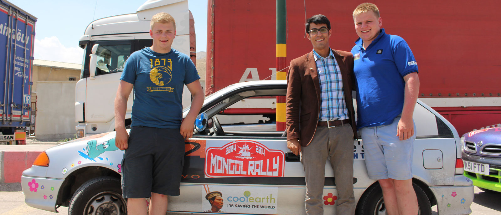 Hossein with Mongol Rally Team 2014